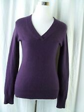 Nicole by Nicole Miller Sweater Size Small Purple Cashmere V Neck Pullover