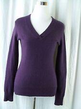 Nicole by Nicole Miller Sweater Size Small Purple Cashmere V Neck