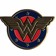 DC Comics Wonder Woman Gold Aluminum Metal Colored Sticker Superhero Decal