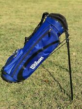 Wilson Ultra Junior Bag Standing Blue w/ 4 slots for clubs and 3 pockets