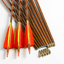 12PCS 32'' ID6.2 SP500 Archery Carbon Arrows Shaft Compound Bow Hunting Shooting