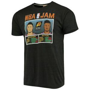 Men's Phoenix Suns DeAndre Ayton & Devin Booker Charcoal NBA Jam T-Shirt Funny