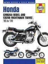 HAYNES MANUAL HONDA CB250 NIGHTHAWK 1991-08 & CMX250 REBEL 1985-1987 & 1996-09