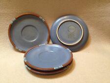 Lot of 4 New Dansk Mesa Sky Blue Portugal Saucers