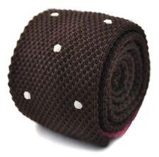 Accessoires cravates marrons pour homme en 100% soie