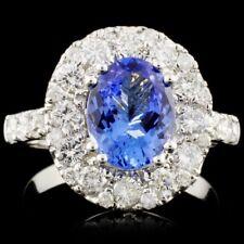 CERTIFIED $9072 14K Gold 1.83ct Tanzanite & 1.49ctw Diamond Ring