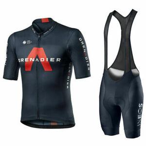 mens cycling Short Sleeve jerseys  ineos cycling jersey and bib shorts sets
