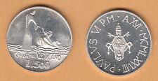 VATICANO Lire 500  GESU' E SAN PIETRO PAOLO VI 1978 argento SILVER FDC