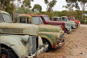 PRINT POSTER  landscape rusty cars bush  photo Australia Fits A0 Glass  Frame