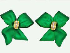 RUCINNI Green Ribbon Earrings