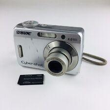 Sony Cyber-shot DSC-S500 6.0MP Digital Camera - Silver With Memory Stick
