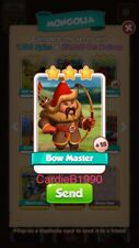 X1 Bow Master Coin Master trading card !!!Super Fast Dispatch!!!