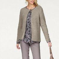 genial WARM Chic Gr.40/42 STRICKJACKE Jacke Cardigan GRAU casual