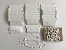 VERTICAL BLIND 30 WEIGHTS HANGERS & CHAINS SPARES PARTS FITS 89 MM WIDE BLINDS