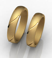 Pair of Wedding bands 14k yellow/white gold Ak009