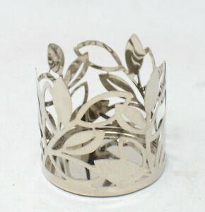 """Yankee Candle Metal Leaf Design Candle Jar Holder 3"""" dia 1301254"""