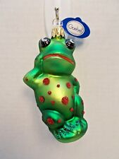 Goebel Heirloom Collection Glass Frog Prince Ornament New c