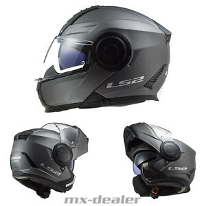 2021 LS2 FF902 Scope Klapphelm Motorrad Helm Solid Matt Titanium Tourenhelm