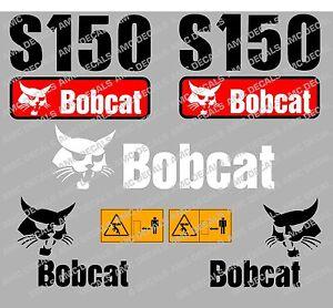 BOBCAT S150 SKID STEER DECAL STICKER SET
