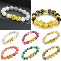 2021 Feng Shui Agate Beads Attract Wealth Pixiu Bracelet Wirstband Good Luck Hot