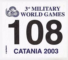 3rd MILITARY WORLD GAMES,CATANIA 2003, ITALY, Sportissimo,  Rarre patch !