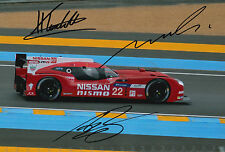 Tincknell, Krumm, Buncombe Hand Signed Nissan Nismo Photo 12x8 Le Mans 2015.