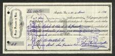 BILL OF EXCHANGE ACAPULCO MEXICO FIRST OF EXCHANGE BANK CHECK REVENUE STAMP 1916