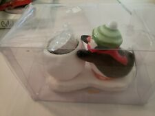 New In Package HALLMARK Penguin Tea Light Holder. Includes Candle.