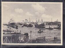 DE 01 ) Deutsches Reich Postkarte Hamburger Hafen 1935