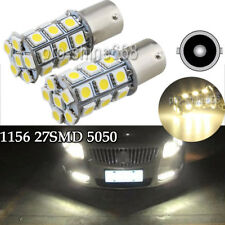 43K Warm White 1156 BA15S 5050 27SMD RV Camper Trailer LED Interior Light Bulbs