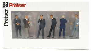 Preiser 68213 Set of 6 Business Figurines Scale 1:50