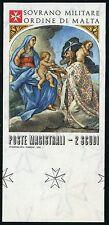 SMOM Malteser Orden 1978 Weihnachten Gemälde Ungezähnt Non Dentellato ** MNH RAR