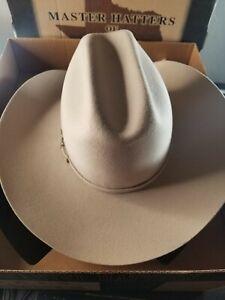 Master Hatters of Texas MHT 3X Beaver Blend Paladora Mist Grey Size 7 3/8 NWT