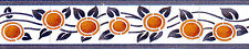 Mural Ceramic Backsplash Art Nouveau Border Tile #548