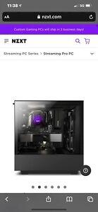 NZXT - Gaming Pc  Ryzen 5 5600x , 1TB M.2  Open Box. NO Video CARD