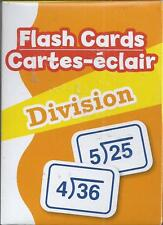 52 flash cards division new 2013 elementary education learning math