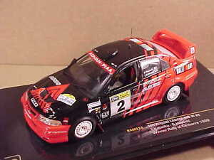 Ixo #RAM514 1/43 Diecast Mitsubishi Lancer Evo VI ,Ganador '99 Rally Canberra,#