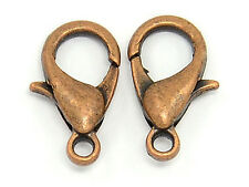 500 Lobster Clasps - Antique Copper - 12x6mm - Jewelry Findings Claw Connector