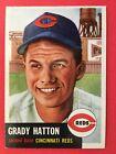 1953 Topps Baseball Card Grady Hatton 45