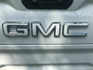 19 GMC Sierra Emblem Overlay Decal GLOSS WHITE Front & Rear | PRECUT NO CUTTING