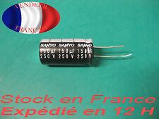 150uF 250V condensateur capacitor   105°C marque/brand sanyo