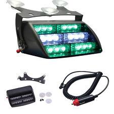 18 LED Green W Emergency Hazard Warning Windshield Dash Board Flash Strobe Light