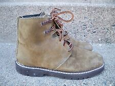 Vintage GH Bass & Co Green Leather & Wool Women's Winter Snow Work Boots Size 8