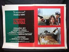 FOTOBUSTA CINEMA - CORRUZIONE AL PALAZZO DI GIUSTIZIA - FRANCO NERO - 1975 - 01