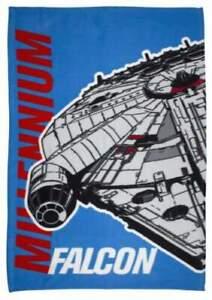 STAR WARS EPISODE 7 AWAKEN FLEECE BLANKET MILLENNIUM FALCON THROW SNUGGLE