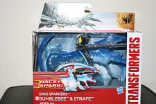 NEW Transformers Age of Extinction Dino Sparkers Bumblebee and Strafe Figures 4+
