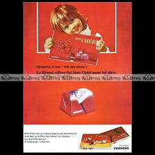 Ferrero MON CHERI 1973 Chocolat Chocolate - Pub / Publicité / Original Ad #A640