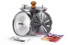 Meat & fish indoor smoker HANHI 10l. stainless steel with hydrolocks bbq grill