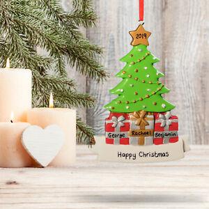 Personalised Christmas Tree Decoration Xmas Gift Family Keepsake 3 4
