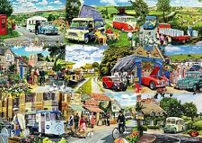 Gift Wrapping Paper: Campervan Caravan Village Milkman Policeman Garage Car Bus